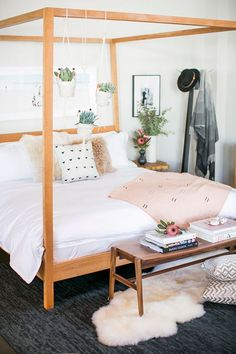 Blush & white bedroom