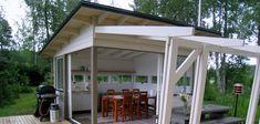 Olotar Maku pihakeittiö ja Katve katos Lean To, Summer Kitchen, Outdoor Gardens, Terrace, Pergola, Shed, Outdoor Structures, Outdoor Decor, House