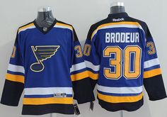 """$34.88 at """"MaryJersey""""(maryjerseyelway@gmail.com) Blues 30 Martin Brodeur Light Blue Home Stitched NHL Jersey"""