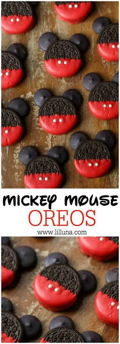 Mickey Mouse OREOS - a simple, cute and tasty treat to make with or for the kids for any occasion! Mickey Mouse OREOS - a simple, cute and tasty treat to make with or for the kids for any occasion! Bolo Do Mickey Mouse, Mickey Mouse Desserts, Mickey Mouse Crafts, Disney Mickey, Mickey Mouse Party Favors, Mickey Mouse Invitation, Pastel Mickey, Mickey Cupcakes, Mickey Cake Pops