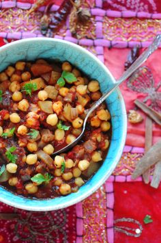 Indian chickpea curry. http://wp.me/pHBxF-47T
