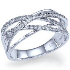 030 carats Natural Diamond Wedding Band 14k White by ldiamonds. $889.00, via Etsy.