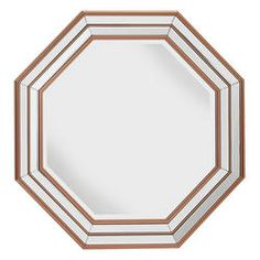 Charlette Mirror Octagon in shape and rose gold/copper in colour as unique as it sounds. Mirror Set, Contemporary Wall Mirrors, Modern Contemporary, Console Table, Copper Furniture, Overmantle Mirror, Large Candle Holders, Fairmont Park, Furniture