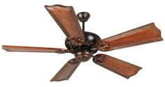Craftmade K10921 Cordova Ceiling Fan with Five 56 Custom Carved Wellington Mahogany Blades, Oiled Bronze  #Craftmade #Home_Improvement