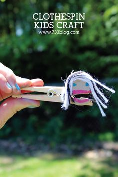 Clothespin Kids Craft - Fun activity for kids!