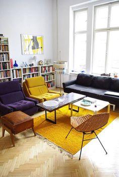 Kolorowy eklektyczny salon
