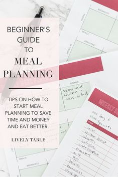 Eat better at home, save time and money, and feel more organized by making meal planning a habit. Start meal planning now with this beginner's guide to meal planning! Clean Eating Plans, Clean Eating Diet, Healthy Eating, Eating Habits, Healthy Cooking, Healthy Meals, Cooking Tips, Healthy Food, Healthy Recipes