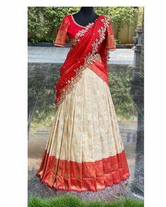 Indian Bridal Lehenga, Indian Bridal Fashion, Indian Gowns, Indian Attire, Indian Outfits, Lehenga Choli Latest, Half Saree Lehenga, Lehenga Saree Design, Lehenga Blouse