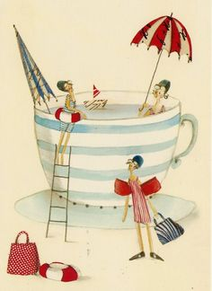 love it~what a great way to use your tea cups in the summer months when it can be too hot for tea.