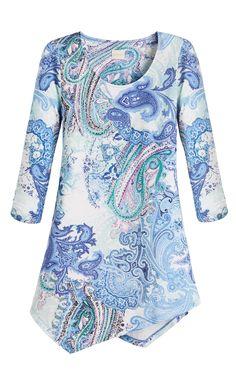 We love this beautiful paisley top.