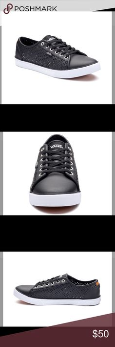 Limited Edition!! Vans Rowan Dx Women's Shoes Product Details These women's Rowan DX sneakers from Vans update the casual skater style with pretty perforations.  SHOE FEATURES Decorative cutout sides Durable double stitching Vulcanized outsole SHOE CONSTRUCTION Leather upper Cotton blend lining EVA midsole Rubber outsole SHOE DETAILS Round toe Lace-up UltraCush insole Vans Shoes Sneakers