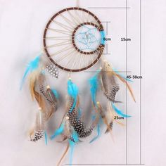 Handmade-Dream-Catcher-with-Feathers-Wall-Hanging-Decoration-Car-Ornament-Gift