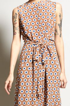 No.6 Mona Dress in Camel Daisy