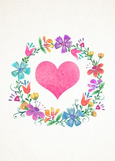 pink heart and flower wreath. Cute Wallpapers, Wallpaper Backgrounds, Iphone Wallpaper, Watercolor Flowers, Watercolor Paintings, Floral Letters, Monogram Wreath, Instagram Highlight Icons, Jolie Photo