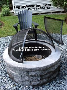Double Door Minnesota Made Stainless Steel Spark Screen 1 Builder In The Fire Pit