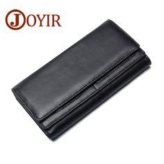 JOYIR Fashion Wallet Men Genuine Leather Wallet Men's Purse Long Hasp Wallet Men Clutch Wallet Bag Money Bag Card Holder #Affiliate