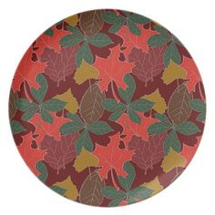 Autumn Leaves Plate