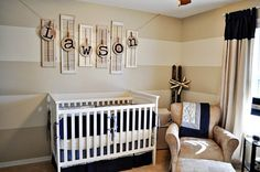 love the stripes and re-purposed old shutters