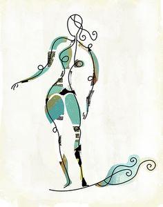 Girl swirls...