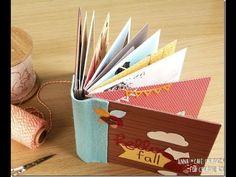 How to make Mini Envelope Album with cardboard cover