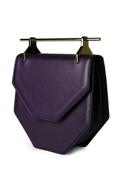 $1,685, Amor/Fati In Violet by M2Malletier, @Annette Howard Nokes-A-PORTER.COM // bag // clutch // purple // handle // hardware // designer