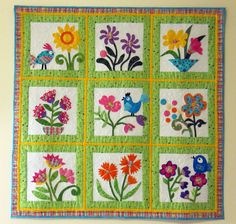 Whimsical Garden Quilt (thank you mom)