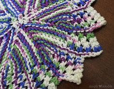 Free Knitted Round Dishcloth Patterns : Pi Dishcloth Knitting Pattern SimplyNotable.com Love this free dishcloth pa...