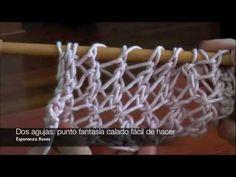 Puntos calados tejidos palillos - Imagui