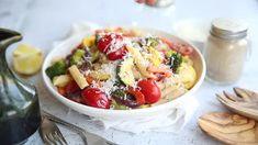 Best Tuna Salad Recipe - Cooking Classy Best Tuna Salad Recipe, Easy Salad Recipes, Easy Salads, Soup Recipes, Snack Recipes, Easy Bruschetta Recipe, Homemade Bruschetta, Herb Roasted Potatoes, Roasted Vegetables