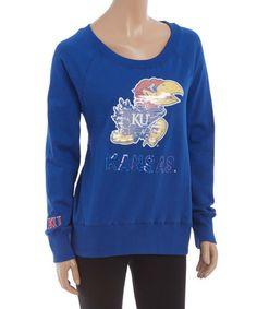 Kansas Jayhawks Scoop Neck Pullover - Women #zulily #zulilyfinds
