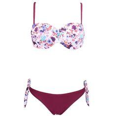 Women's Bandeau Floral Beach Wear Swimwear Push Up Bikini Swimsuit Brazilian Bikini Bathing Suits
