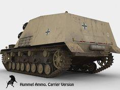 Sd Kfz 165 Hummel - Version transport de munitions du canon automoteur de 150mm Hummel
