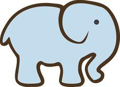 Elephant Silhouette Blue Cute transparent image