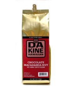 Da Kine are makers of handcrafted Hawaiian sauces and coffee shipped to your door directly from the islands! Grab a bag of this delicious chocolate macadamia nut coffee blend for your next morning wakeup. YUM. #coffee #freshlyground #hawaiian