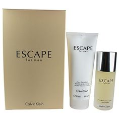 Calvin Klein Escape Men's 2 Piece Gift Set, 3.4 Ounce
