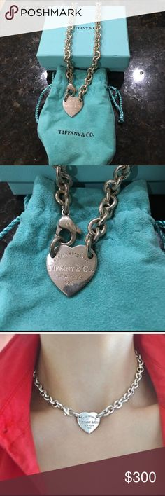 Beautiful Tiffany & Co. Heart Chain Necklace Beautiful Tiffany & Co.  Heart Chain Necklace. Comes with original pouch and box! Tiffany & Co. Jewelry Necklaces