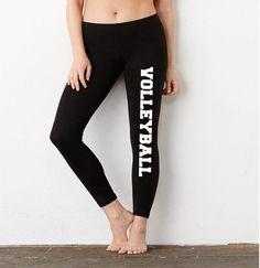 Vollyball Ladies  Cotton Spandex Leggings 0740855d1302f