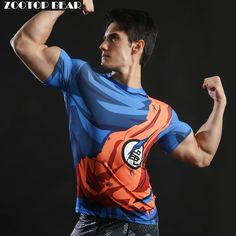 Cheap tshirt bra, Buy Quality tshirt smile directly from China tshirt red Suppliers: 2017 New Men's Fashion Goku Dragon Ball Print Casual Short Sleeve Cosplay T-Shirt Compression Tshirts Fitness ZOOTOP BEAR Polos Tommy Hilfiger, Tommy Hilfiger Mujer, New Mens Fashion, Fashion 2017, Workout Tops, Workout Shirts, Goku Workout, Cosplay, T Shirt Fitness