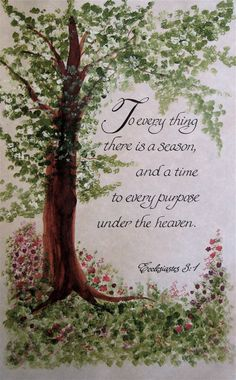 Custom calligraphy Ecclesiastes 3 Made to by ashleychristines, $48.00