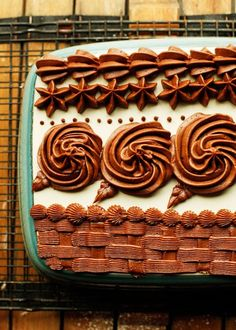 An easy and delicious Chocolate Buttercream with no shortening. Perfect for piping decorative borders, making roses, or to use as frosting..