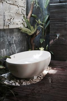 Bali bathroom inspiration {wineglasswriter.com/} #luxuryzenbathroom