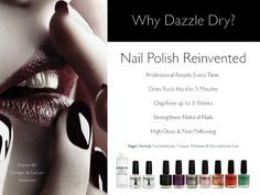 Dazzle Dry Nail Polish, Totally dries in 5 minutes.