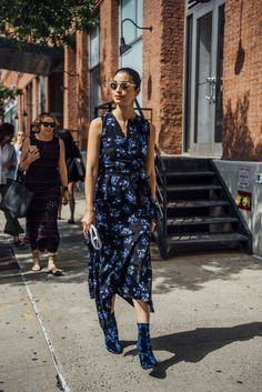 September 12, 2016  Tags Black, Sunglasses, Caroline Issa, Blue, Boots, Women, Prints, Florals, High Heels, Dresses, New York, Velvet, 1 Person, SS17 Women's