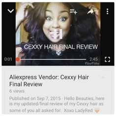 """Search """"Cexxy Hair"""" on YouTube See How Our Hairs Are Doing By @ladyred_beautylife  #cexxyhair #virginhair #hairweave  #hairfashion #summerhair #review"""