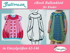 eBook+BALLONESSA+Schnittmuster+Mädchen+Ballonkleid+von+Elsterglück+auf+DaWanda.com