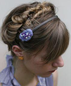 LOVE! Nicole Purple Beaded Felt Headband SALE. $10.00, via Etsy.