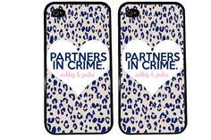 Bff case / partners in crime personalized iphone 4 case