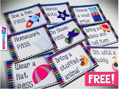 FREE SPACE Positive Behavior Reward Coupons - Classroom Freebies Here are some free positive behavio Space Classroom, Classroom Freebies, Kindergarten Classroom, Future Classroom, School Classroom, Classroom Organization, Classroom Decor, Classroom Coupons Free, Classroom Passes