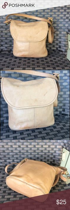 Tan vintage coach Some marks and stains but I have not tried to clean see pic. Bags Satchels