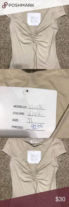 NWT Sandro Paris Short Sleeve Shirt Designer !!! Brand new with tags Sandro Paris Cream short sleeve shirt  Paris designer !!! Size t1 French size  USA size small Sandro Tops Tees - Short Sleeve